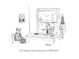 """I see by your résumé that you're a billionaire."" - New Yorker Cartoon Premium Giclee Print by David Sipress"
