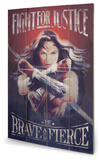Wonder Woman - Fight For Justice Wood Sign