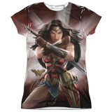 Juniors: Wonder Woman Movie - Protector of Humanity Womens Sublimated