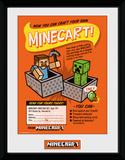Minecraft - Craft Your Own Minecraft Stampa del collezionista