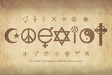 Coexist Pósters