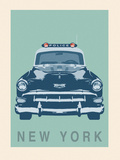 New York - Cop Car Giclee Print by Ben James