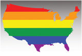 Usa Rainbow Flag Posters