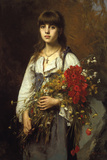 Flower Girl Giclee Print by Alexei Harlamoff