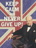 Keep Calm Brit I Giclee Print by  The Vintage Collection