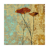 Poppies and Damask II Prints by Louise Montillio