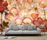 Flowers Decoupage - Non Woven Mural Wallpaper Mural