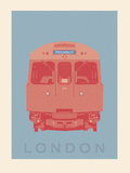 London - Piccadilly Tube Giclee Print by Ben James
