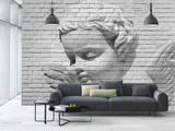 Brick Wall Cupid Papier peint