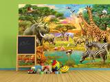 Safari Oasis Wallpaper Mural