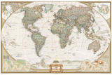 World Political Map, Executive Style Wall Mural by  National Geographic Maps