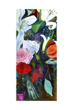 Baroque Flower Triptych III Poster by Sandra Iafrate