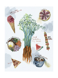 Food Sketches I Premium Giclee Print by Melissa Wang