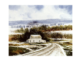 Rural Winter Road Giclee Print by Miguel Dominguez