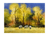 Fall Feed Giclee Print by Miguel Dominguez