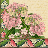 Hydrangea on Love Letters Poster by  Piddix
