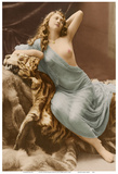 Classic Vintage French Nude - Hand-Colored Tinted Art Posters by Louis-Ame?de?e Mante