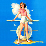"""""""All Aboard"""" Retro Pin-Up by Jules Erbit Posters by  Piddix"""