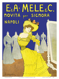 Emiddio and Alfred Mele Clothing Company - New to Naples, Italy (Novità Per Signora Napoli) Posters by Leonetto Cappiello