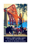 """Forth Bridge"" Vintage Travel Poster, London & North Eastern Railway of England & Scotland Art by  Piddix"