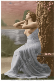 Classic Vintage French Nude - Hand-Colored Tinted Art Prints by  Pacifica Island Art
