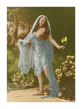 Classic Vintage French Nude - Hand-Colored Tinted Art Premium Giclee Print by  Pacifica Island Art