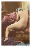Classic Vintage French Nude - Hand-Colored Tinted Art Prints by  SIC Photo Studio