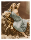 Classic Vintage French Nude - Hand-Colored Tinted Art Giclee Print by Louis-Ame?de?e Mante