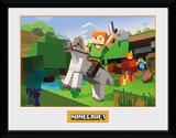 Minecraft - Zombie Attack Stampa del collezionista