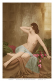 Classic Vintage French Nude - Hand-Colored Tinted Art Prints by  NPG Studio