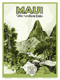 Maui Hawaii - The Valley Isle - Iao Valley Needle Plakater af  Pacifica Island Art