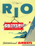 """Rio"" Vintage Travel Poster, International Airways Posters by  Piddix"