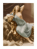 Classic Vintage French Nude - Hand-Colored Tinted Art Premium Giclee Print by Louis-Ame?de?e Mante