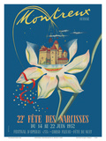 Montreux, Switzerland - 22nd Annual Narcissus Festival Plakater af A. Dutoit