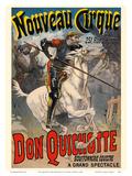 Don Quixote (Don Quichotte) - New Circus (Nouveau Cirque) - Great Horse Show Print by Lucien Lefèvre