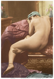 Classic Vintage French Nude - Hand-Colored Tinted Art Posters by  SIC Photo Studio