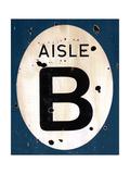 Blue Aisle B Giclee Print by JB Hall