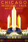 """Chicago World's Fair"" Vintage Travel Poster, 1933 Posters by  Piddix"