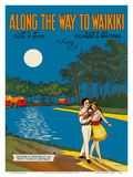 Along The Way To Waikiki - Lyric by Gus Kahn - Music by Richard A. Whiting Posters by  Barbelle