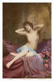 Classic Vintage French Nude - Hand-Colored Tinted Art Posters by  NPG - Neue Photographische Gesellschaft