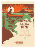 She Sang Aloha To Me - A Ballad of Hawaii by Joseph B. Carey Posters by Leland Stanford Morgan