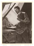 Belgian Printmaker Félicien Rops in his Studio Prints by Paul Mathey