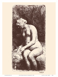 Nude Woman Bathing Poster by Rembrandt Harmenszoon van Rijn