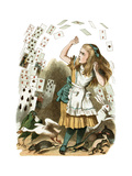 """""""Nothing But a Pack of Cards"""" Alice in Wonderland by John Tenniel Premium Giclee Print by  Piddix"""
