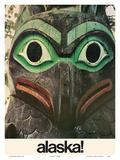 Alaska - Native Aleut Eagle Totem Poster by  Pacifica Island Art