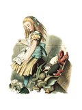 Alice in Wonderland by John Tenniel Print by  Piddix