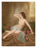 Classic Vintage French Nude - Hand-Colored Tinted Art Giclee Print by  NPG Studio