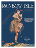 Rainbow Isle Song - Featured Theme Song in D.W. Griffith's Film The Idol Dancer Posters af Edgar Keller