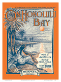 On Honolulu Bay - Lyrics by Jack Yellen - Music by George L. Cobb and Ted S. Barron Poster by R. L. Haas