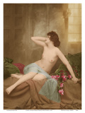 Classic Vintage French Nude - Hand-Colored Tinted Art Print by  NPG Studio